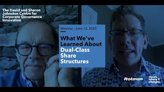 WEBINAR: What we've learned about Dual-Class Share Structures
