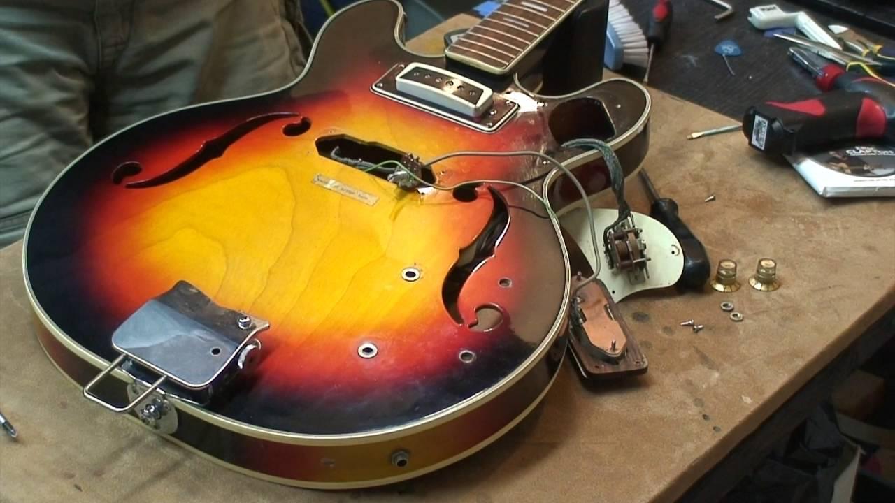 70 s vintage japanese toledo aria the wiring part1 woodeso s guitar mods [ 1280 x 720 Pixel ]