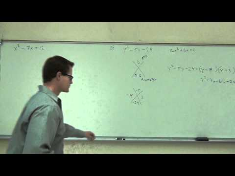 Intermediate Algebra Lecture C.1: A BRIEF Review of Solving Equations and Factoring