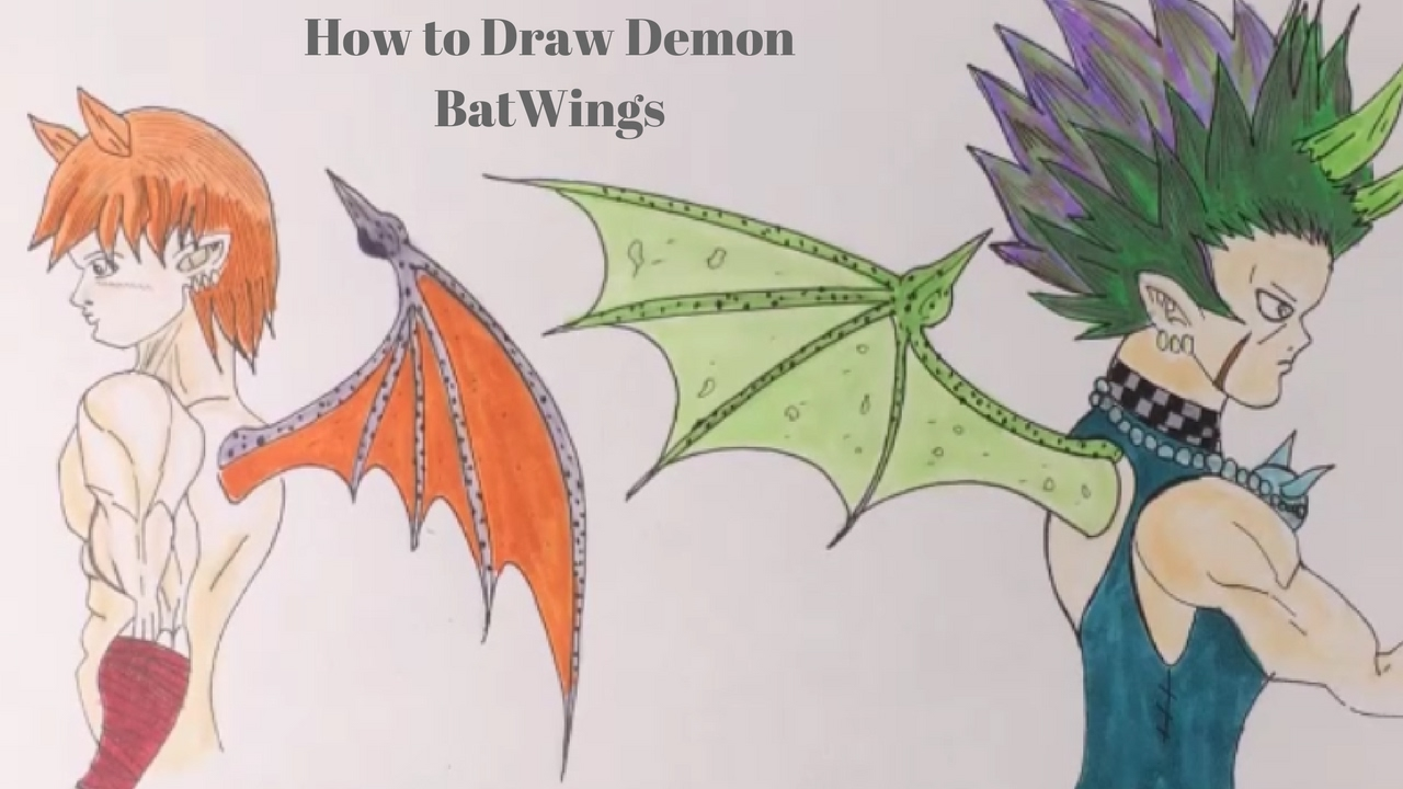 How To Draw Demon Bat Wings Manga Version Youtube