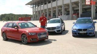 Neuer Audi A4 Avant vs. BMW 3er und Mercedes C-Klasse (2015)