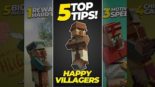 5 Top Tips for Happy Villagers [Minecraft] (#SHORTS)