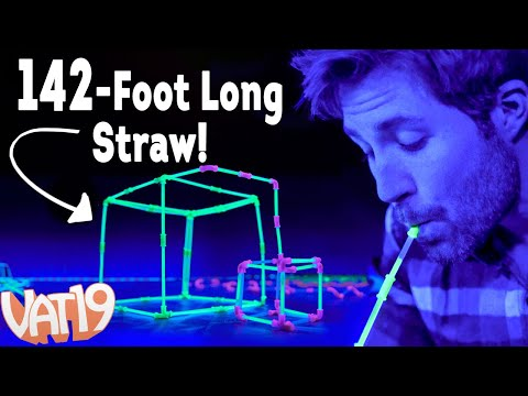 We built a 142-foot long glowing straw!