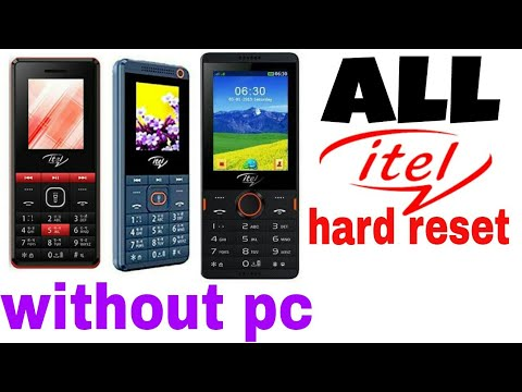 Itel mobile hard reset without code  By mobile tech