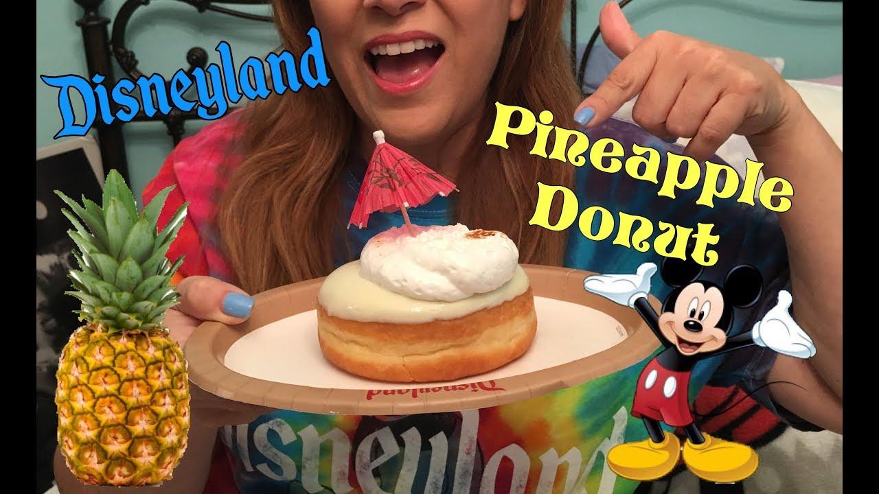 Asmr Eating The Famous Disneyland Pineapple Donut Mukbang No Talking Eating Show Disney Food