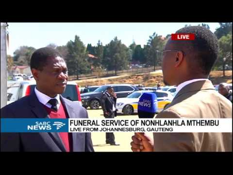 Thumbnail: SABC caught up with Mashatile at Mthembu's funeral