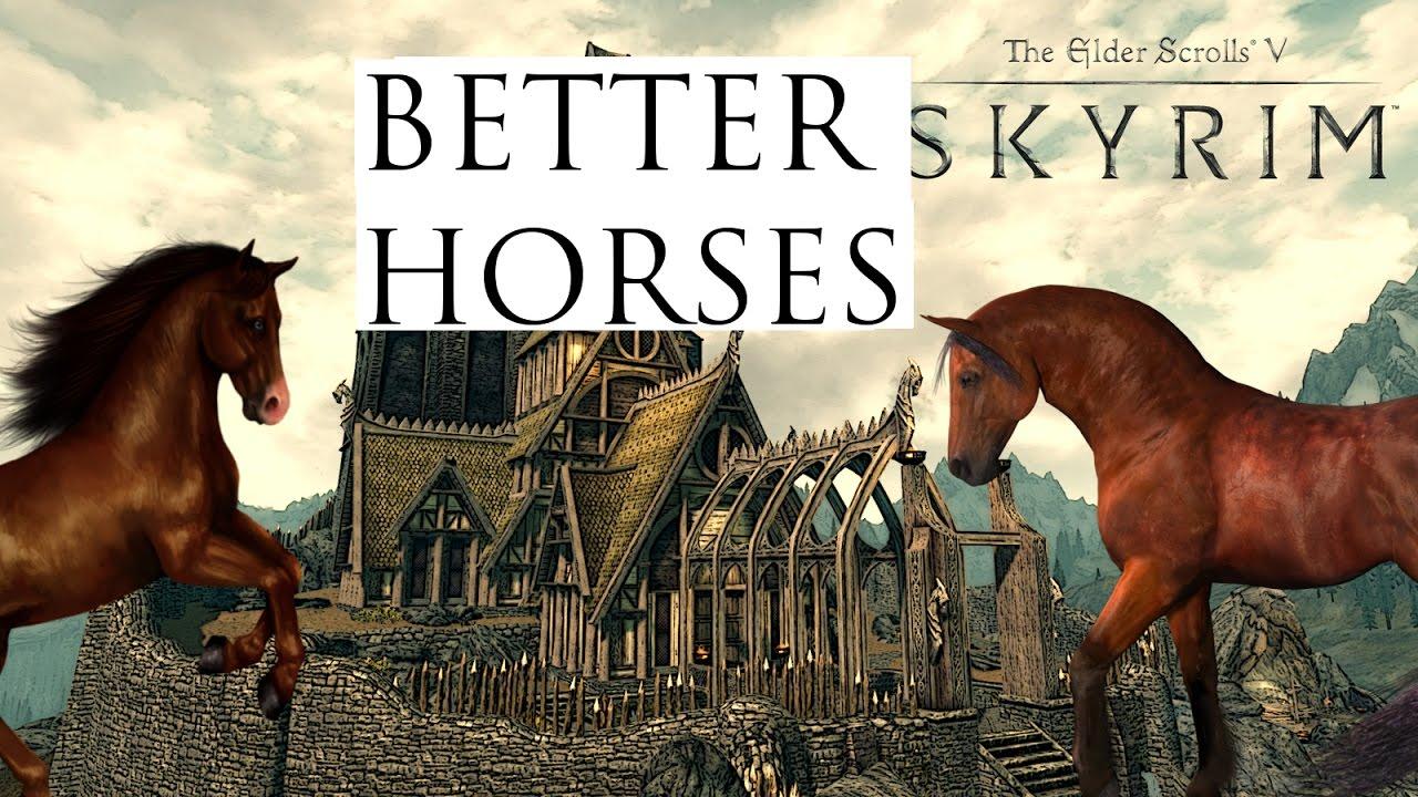 Skyrim Remastered (Mod Showcase) Better Horses