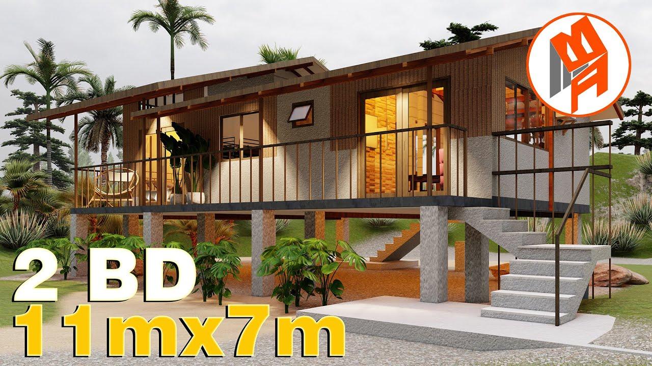 Elevated House Design - Modern Amakan 2 Bedroom 2 T&B