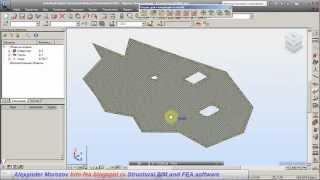 Плиты произвольной формы в Autodesk Robot Structural Analysis Professional