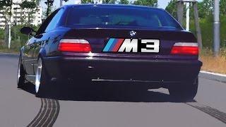 BMW M3 Sound E36 Supersprint Exhaust Catless Acceleration 0-240 Autobahn Onboard