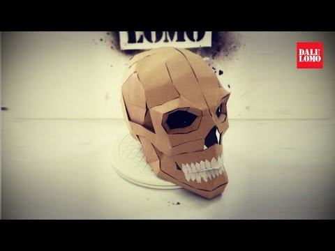 #108: Cardboard Human Skull DIY (Last Minute Halloween Build) | Costume Prop | How To | Dali DIY