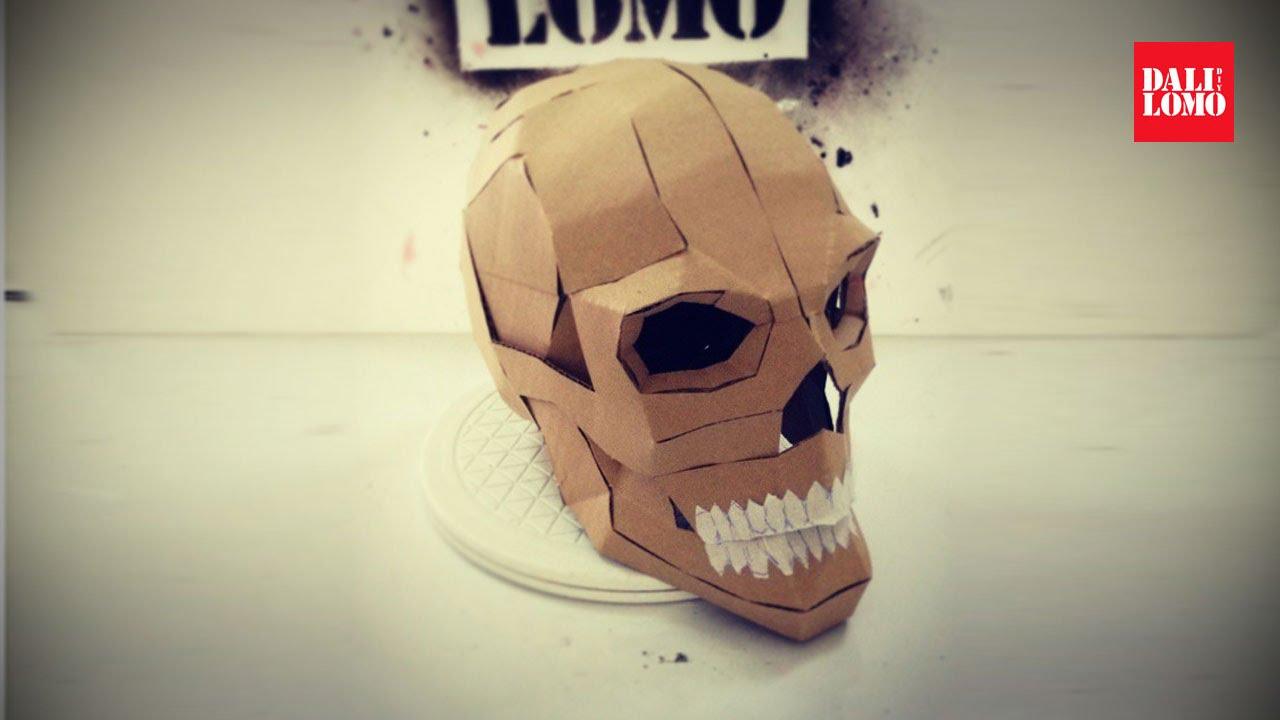 diy human skull cardboard prop how to 108 youtube