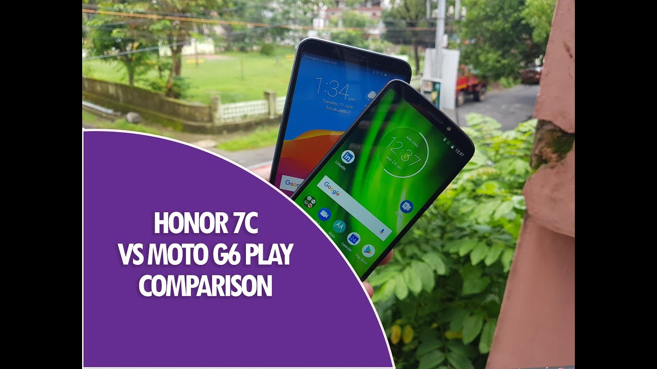 Honor 7C vs Moto G6 Play Comparison- Camera, Software and Performance