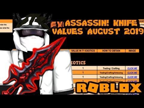 Roblox Assassin Value List 2020.Roblox Assassin Value List August 2019