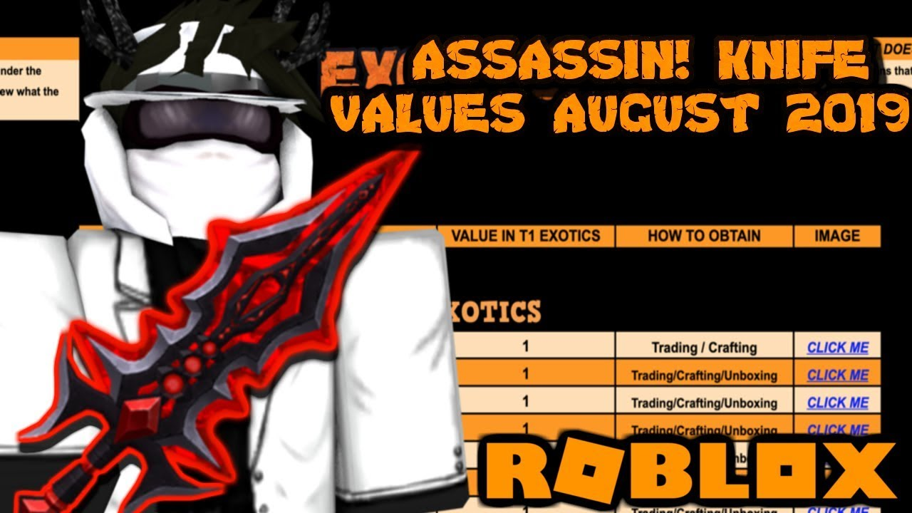 Assassin Value List 2020.Roblox Assassin Value List August 2019