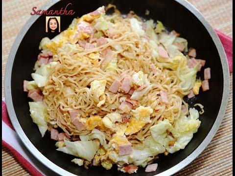 ผัดมาม่า อาหารจานด่วน ทำง่าย เสร็จเร็วและราคาประหยัด /  Noodle Stir-Fry (Thai Recipe)