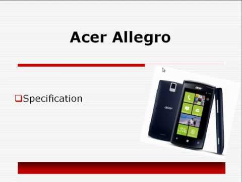 acer allegro specs and reviews price