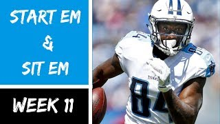 Fantasy Football Start Em Sit Em Week 11 2018 Match ups