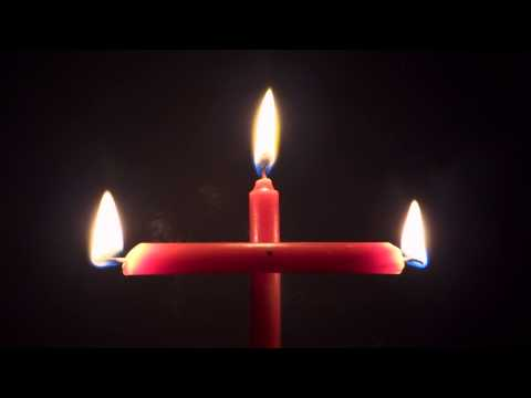 Cross Shaped Candle flame