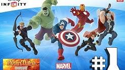 Let's Play DISNEY INFINITY 2.0 Toy Box & Marvel Superheroes Avengers Play Set