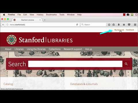 Stanford Libraries Webpages