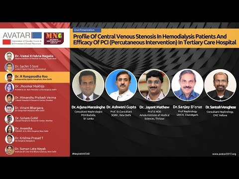 Profile Of Central Venous Stenosis In Hemodialysis Patients | AVATAR 2017 | Dr. Ranganadha Rao