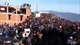 فيديو طرد سلال من جنازة حسين ايت احمد