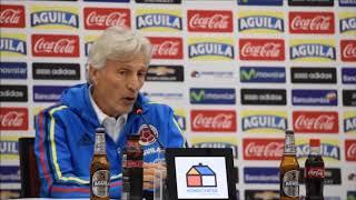 rueda de prensa Pékerman Colombia vs Paraguay en Barranquilla oct 5 2017