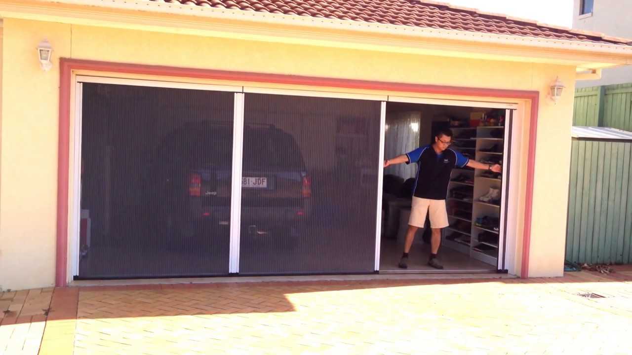 Double Garage Door Insect Screen Hiss Retractable Insect