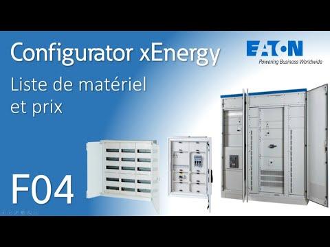 Configurateur xEnergy Eaton - Liste de matériel et prix (BE)