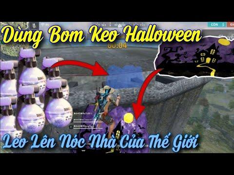 [FREEFIRE] Thử TháchDùng Bom Keo Halloween Leo Nên Nóc Nhà Của Thế Giới   Nam Lầy