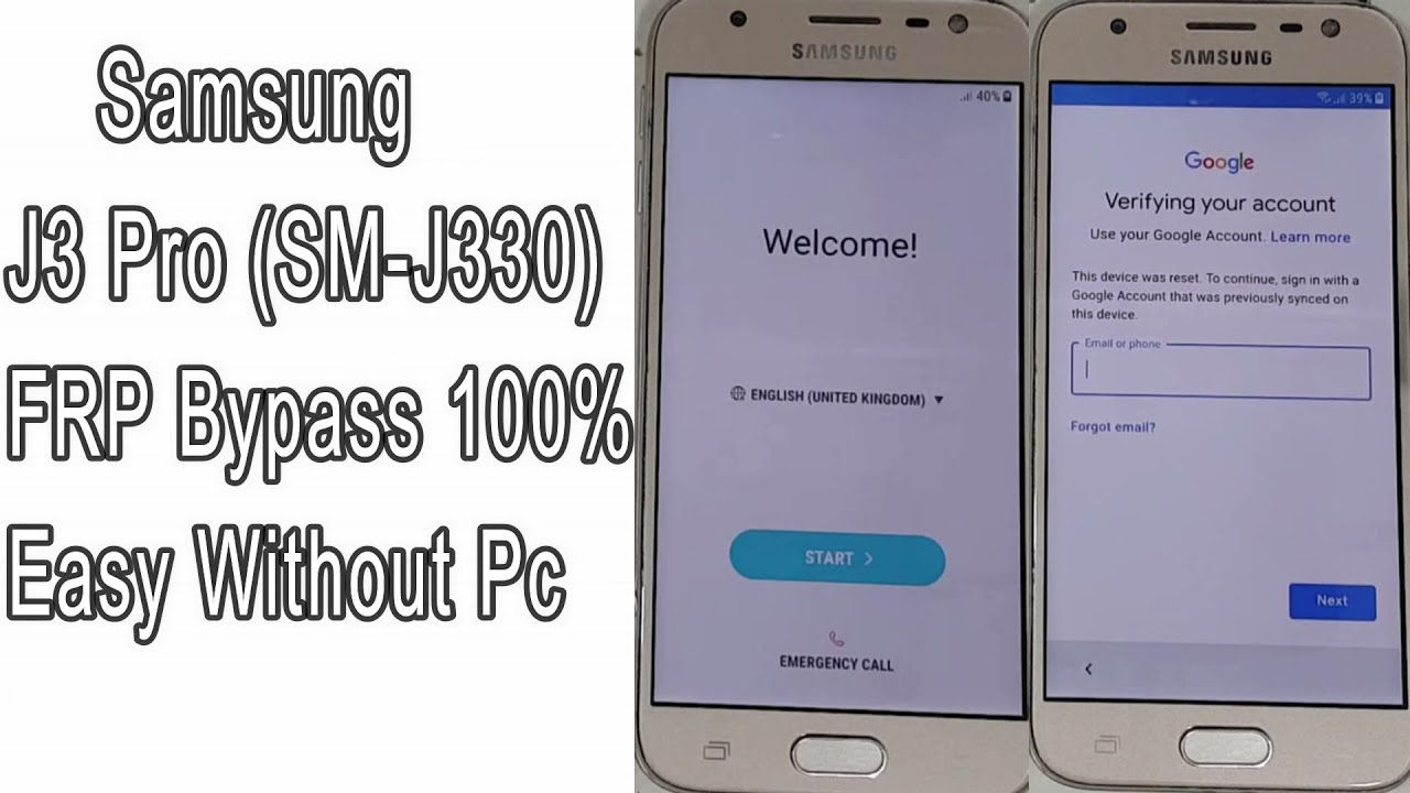 Samsung J3 Pro FRP Bypass (J330) Google account Remove Unlock 100% Without  Pc | Android 7 1