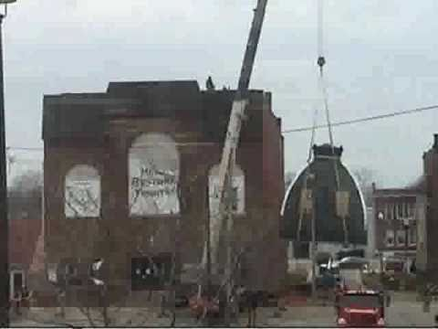 Restoring the dome on Tibbits Opera House