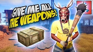 THE WEAPON CRATES ARE MINE! FRESH WIPE! - Rust SOLO Survival Gameplay