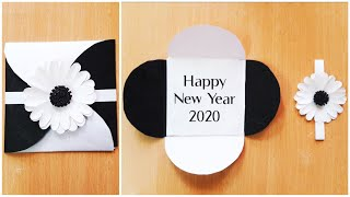 Easy and Beautiful Handmade Happy New Year 2020 card idea DIY greeting card idea for new year 2020