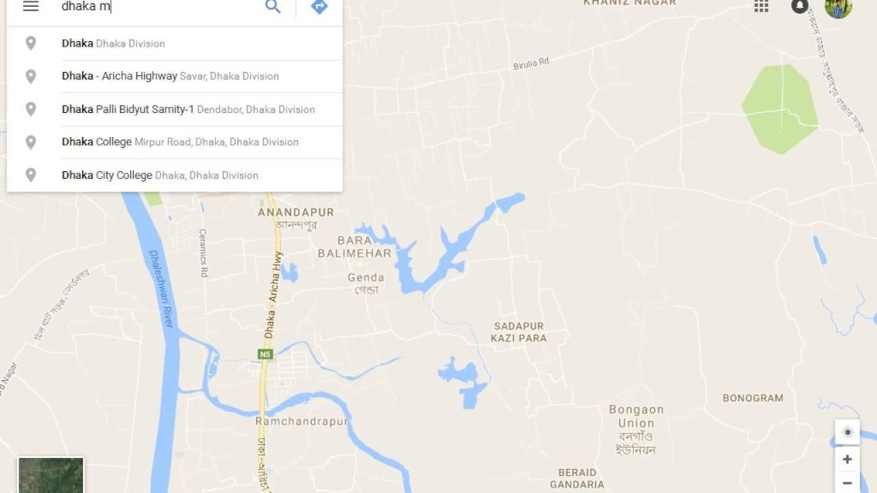 Dhaka map - YouTube