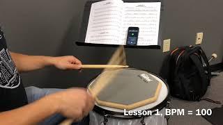 Alfred Drum Method Book 1, Lesson 1