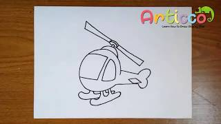 How to Draw a Helicopter Step by Step for Kids