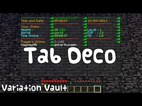 Minecraft Bukkit Plugin Tab Deco Add A Custom Player