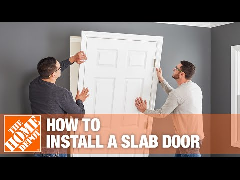 How To Install a Slab Door  - The Home Depot