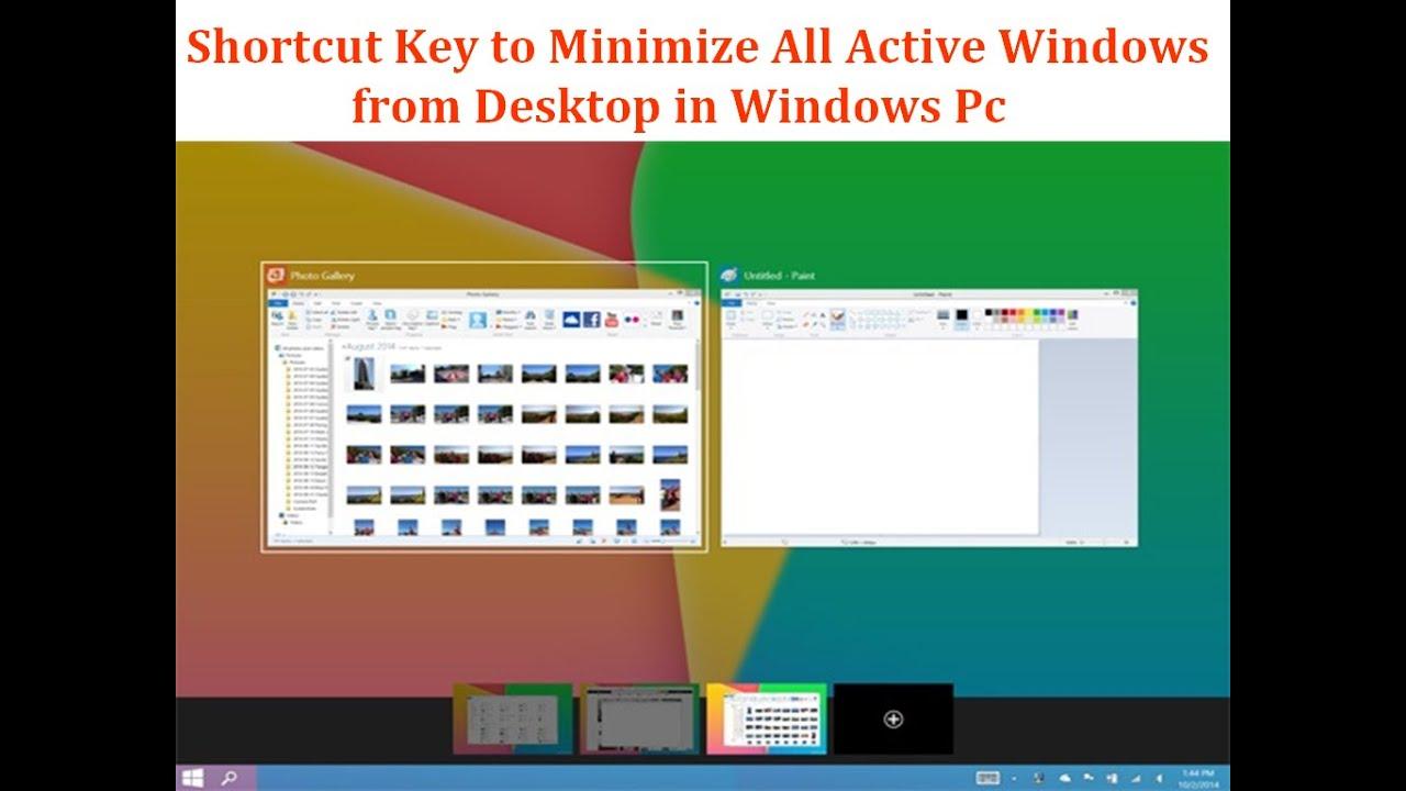How to reduce desktop shortcuts