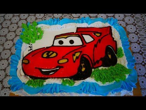 Как украсить торт для мальчика своими руками