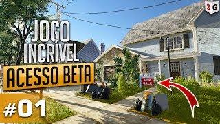 HOUSE FLIPPER : JOGO INCRÍVEL DE CONSTRUÇÃO ACESSO AO BETA #01