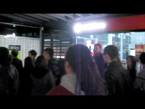 Kanye West's Nike Air Yeezy launch at Qubic on Broadway in Auckland New Zealand