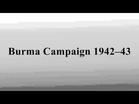 Burma Campaign 1942–43