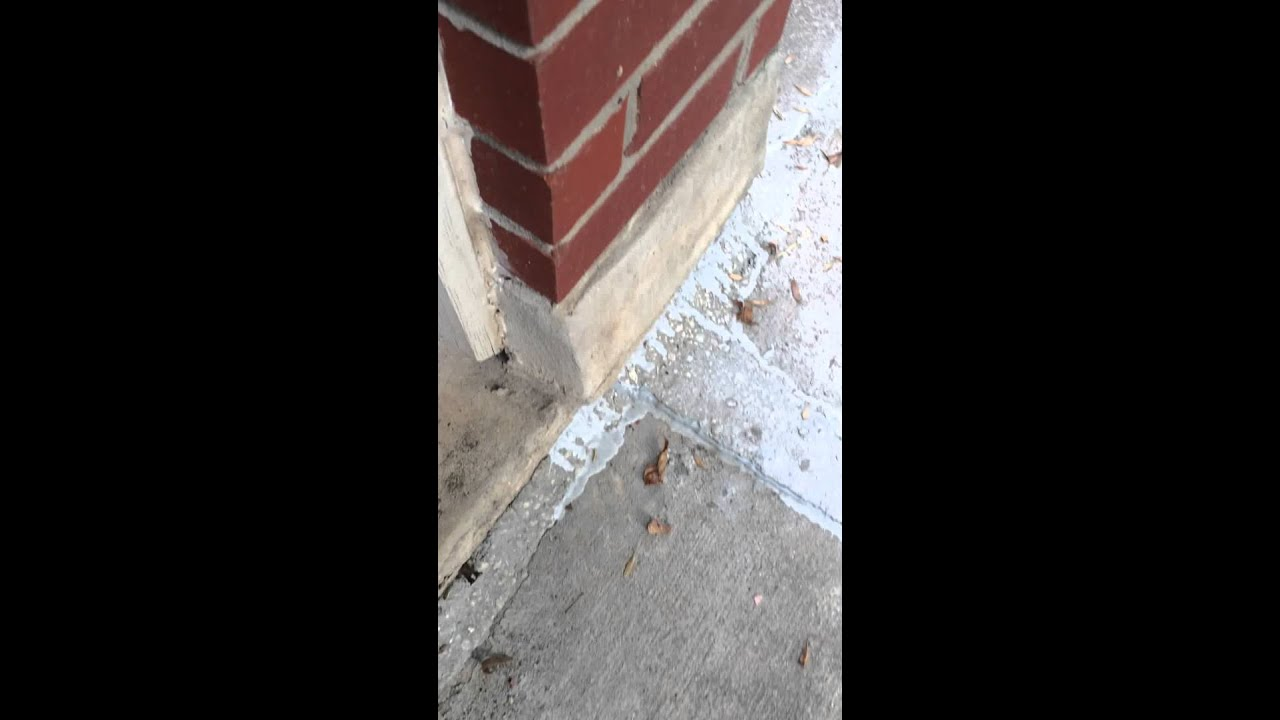 Caulked Fill To Gaps Between Concrete And Foundation Youtube