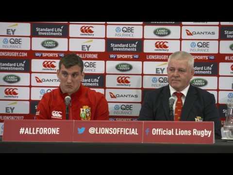 LIONS Postmatch Press Conference 3rd Test vs All Blacks 2017
