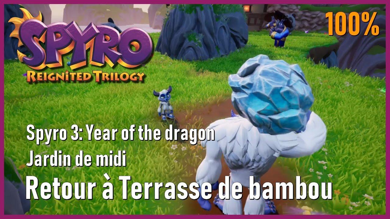 Spyro 3 Year Of The Dragon Jardin De Midi Retour à Terrasse De Bambou