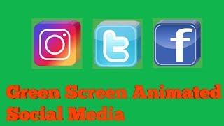 Green Screen Animated Social Media (free download)