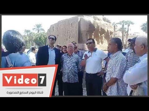 حلمى النمنم ووزير الثقافة التونسى فى زيارة للمعالم الأثرية بالأقصر  - نشر قبل 20 ساعة